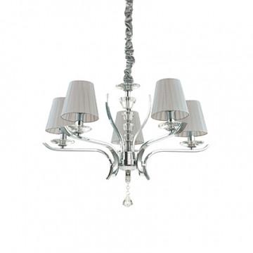Ideal Lux Pegaso 164229, 5xE14x40W, металл, хрусталь, текстиль