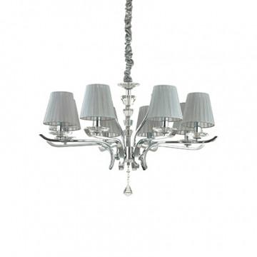 Ideal Lux Pegaso 164236, 8xE14x40W, металл, хрусталь, текстиль