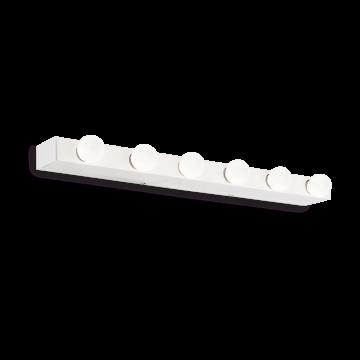 Настенный светильник Ideal Lux PRIVE' AP6 BIANCO 159423, 6xE14x40W, белый, металл