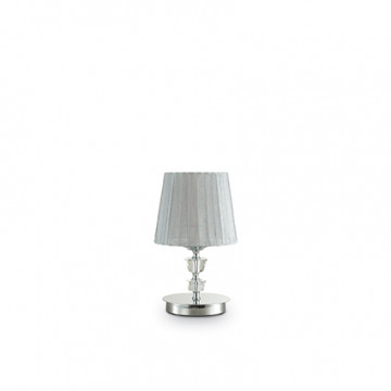 Настольная лампа Ideal Lux Pegaso 164250, 1xE14x40W, металл, хрусталь, текстиль