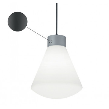 Подвесной светильник Ideal Lux Ouverture 187273, IP44, 1xE27x60W, металл, пластик