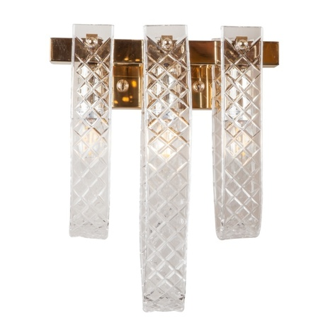 Настенный светильник L'Arte Luce Luxury Bandiera L35923, 3xE14x60W, металл, стекло