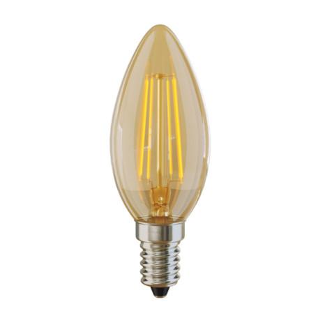 Филаментная светодиодная лампа Voltega VG10-C3E14warm4W-F 5482 свеча E14 4W, 2800K (теплый), гарантия 3 года