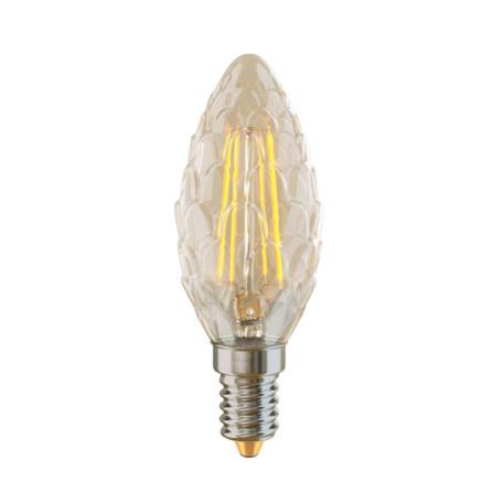 Филаментная светодиодная лампа Voltega VG10-P1E14warm4W-F 5486 витая свеча E14 4W, 2800K (теплый), гарантия 3 года