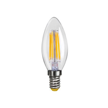 Филаментная светодиодная лампа Voltega VG10-C1E14warm4W-F 6997 свеча E14 4W, 2800K (теплый), гарантия 3 года