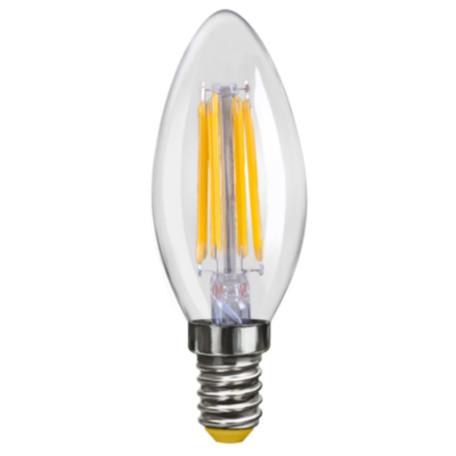 Филаментная светодиодная лампа Voltega VG10-C1E14cold4W-F 6998 свеча E14 4W, 4000K, гарантия 3 года