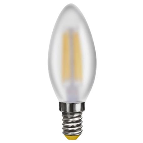 Филаментная светодиодная лампа Voltega Crystal 6999 C35 E14 4W, 2800K (теплый) 220V, диммируемая, гарантия 3 года