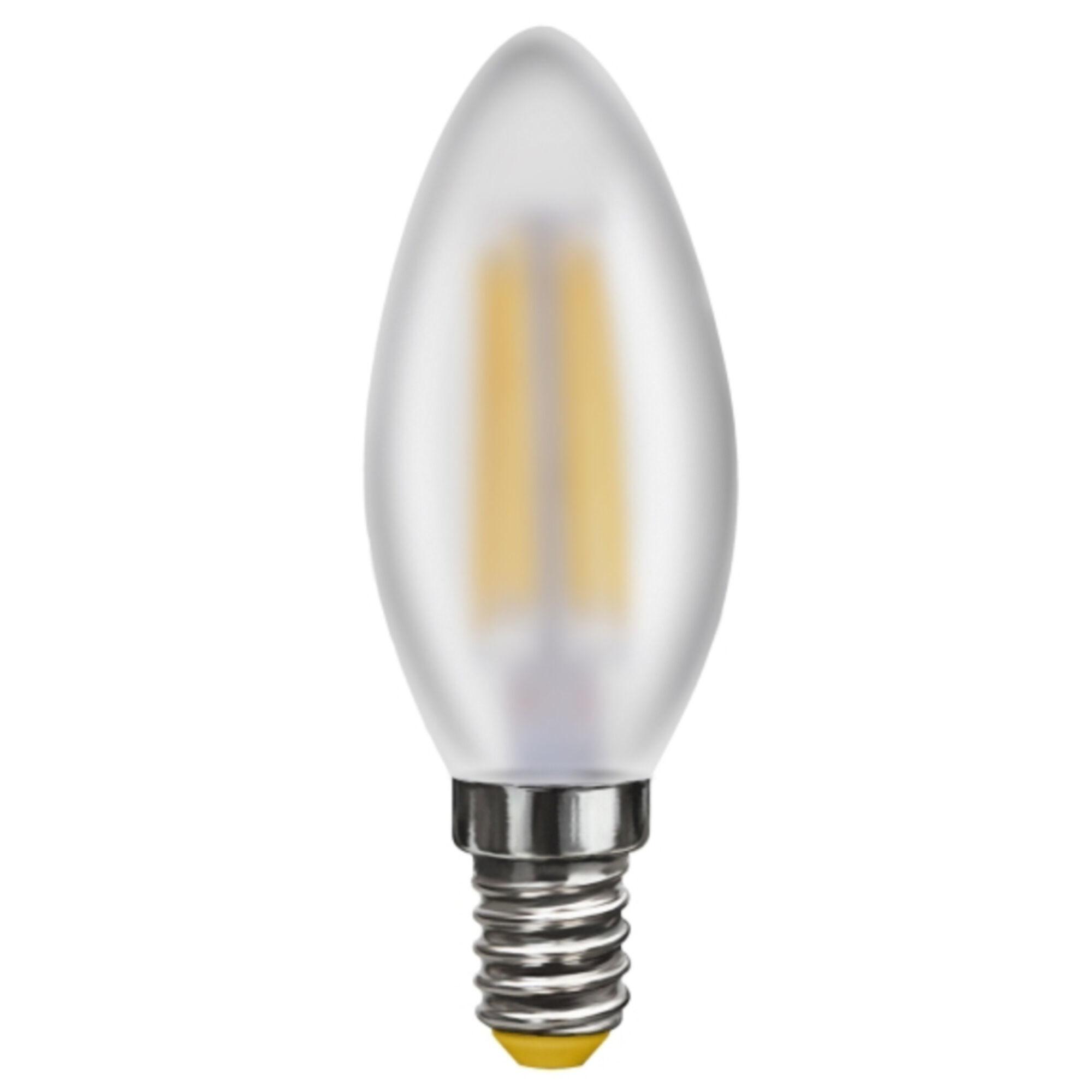 Филаментная светодиодная лампа Voltega Crystal 6999 C35 E14 4W, 2800K (теплый) 220V, диммируемая, гарантия 3 года - фото 1