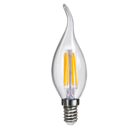 Филаментная светодиодная лампа Voltega Crystal 7005 CW35 E14 4W, 4000K (дневной) 220V, гарантия 3 года