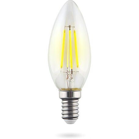 Филаментная светодиодная лампа Voltega Crystal 7020 свеча E14 6W, 4000K 220V