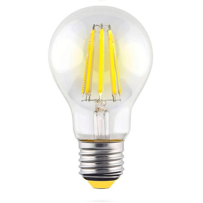 Филаментная светодиодная лампа Voltega Crystal 7104 груша E27 15W, 2800K (теплый) 220V, гарантия 3 года - фото 1