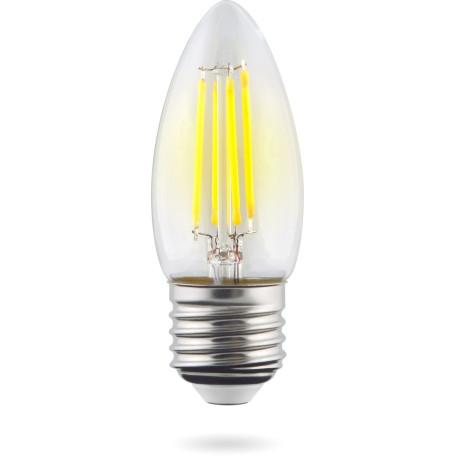 Филаментная светодиодная лампа Voltega Crystal 8335 свеча E27 4W, 4000K (дневной) 220V