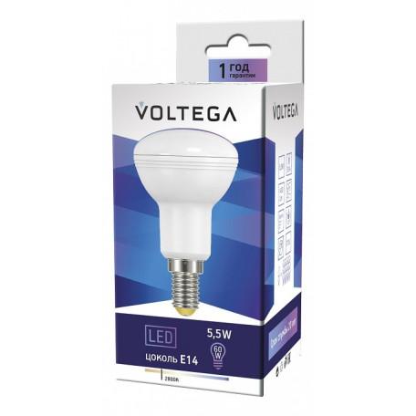Светодиодная лампа Voltega Simple 4712 грибок E14 5,5W, 2800K (теплый) 220-240V, гарантия 2 года