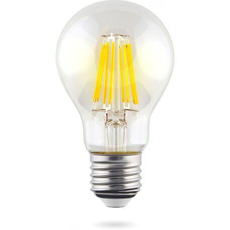 Филаментная светодиодная лампа Voltega Crystal 5489 груша E27 8W, 2800K (теплый) 220V, диммируемая, гарантия 3 года