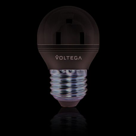 Светодиодная лампа Voltega Loft 5496 шар малый E27 6W, 4000K 220V, диммируемая, гарантия 2 года