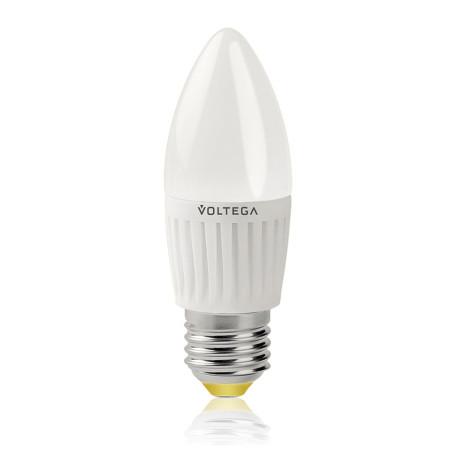 Светодиодная лампа Voltega 5718 C35 E27 6,5W, 4000K (дневной) 220V, гарантия 3 года