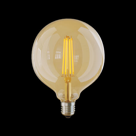 Филаментная светодиодная лампа Voltega Loft LED 6838 шар E27 8W, 2800K (теплый) 220V, диммируемая, гарантия 3 года