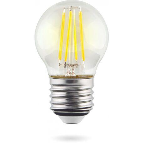Филаментная светодиодная лампа Voltega Crystal 7023 шар E27 6W, 2800K (теплый) 220V, гарантия 3 года