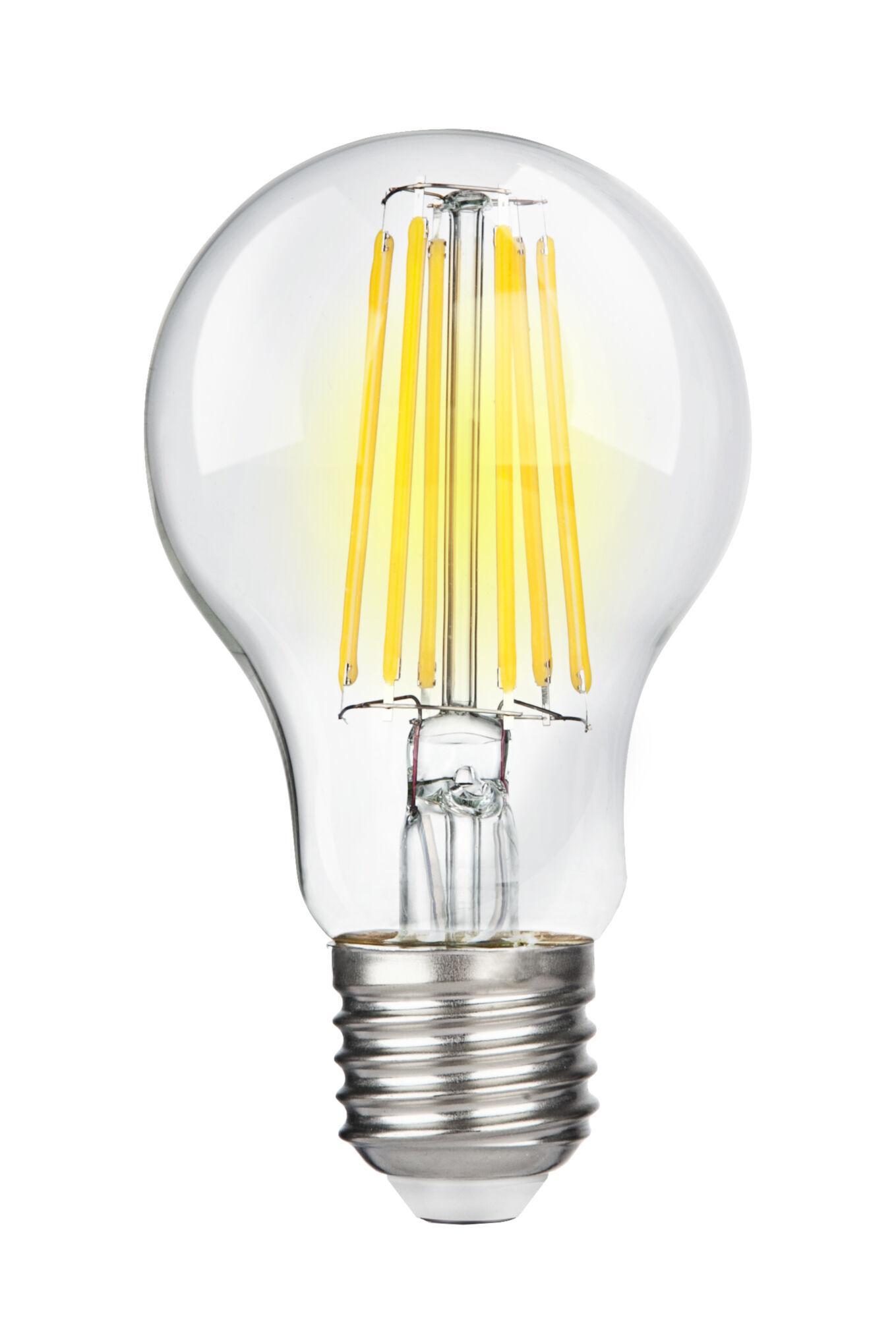 Филаментная светодиодная лампа Voltega Crystal 7101 груша E27 10W, 4000K 220V, гарантия 3 года - фото 1