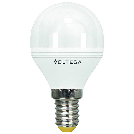 Светодиодная лампа Voltega VG2-G2E14warm5W 8341 шар малый E14 6W, 2800K (теплый)