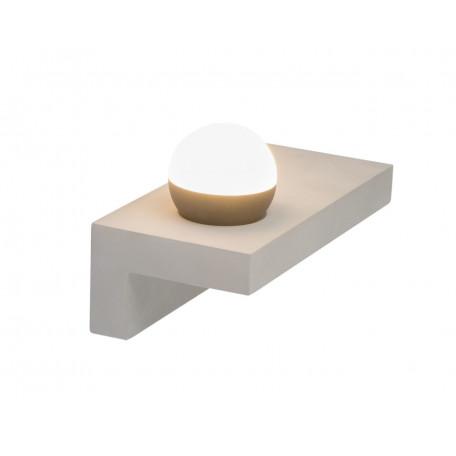 Настенный светодиодный светильник с полкой Globo Timo 55011-W3 3000K (теплый), бетон, пластик