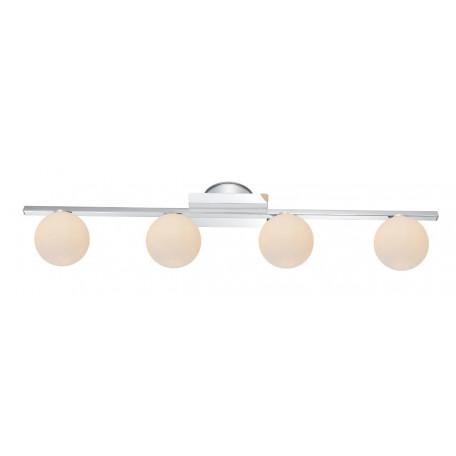 Настенный светильник Globo Cardiff 5663-4L, IP44, 4xG9x3W, металл, стекло