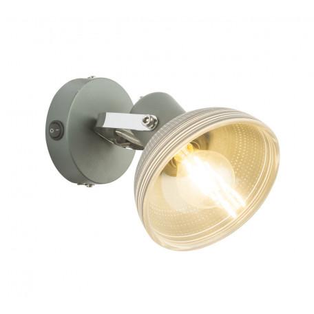 Настенный светильник с регулировкой направления света Globo Daisy 54658-1, 1xE14x40W, металл, стекло