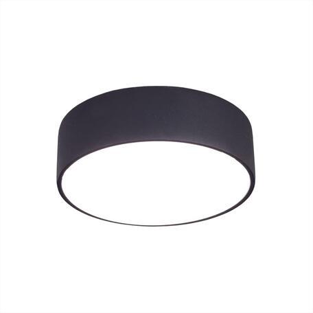 Потолочный светодиодный светильник Citilux Тао CL712122N, LED 12W 4000K 1080lm, черный, пластик