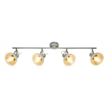 Потолочный светильник с регулировкой направления света Globo Daisy 54658-4, 4xE14x40W, металл, стекло