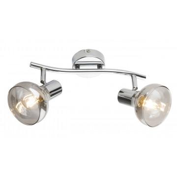 Потолочный светильник с регулировкой направления света Globo Lothar 54921-2, 2xE14x40W, металл, стекло