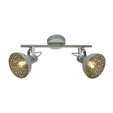 Настенный светильник с регулировкой направления света Globo Fabian 54653-2, 2xE14x25W, металл