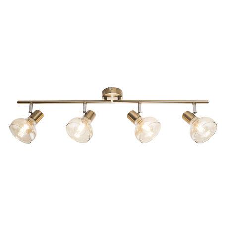 Потолочный светильник с регулировкой направления света Globo Donto 54922-4, 4xE14x40W, металл, стекло