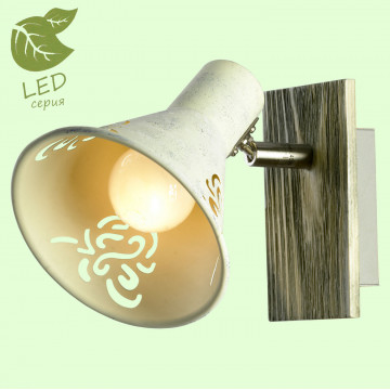 Настенный светильник Lussole LGO Mcconnico GRLSP-8058, IP21, 1xE14x6W, коричневый, серый, дерево, металл