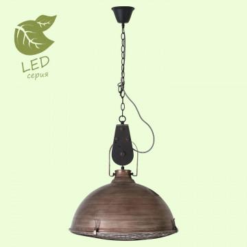 Подвесной светильник Lussole Loft Northport GRLSP-8028, IP21, 3xE27x10W, коричневый, металл
