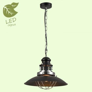 Подвесной светильник Lussole Loft Ketchikan GRLSP-8029, IP21, 1xE27x10W, черный, металл