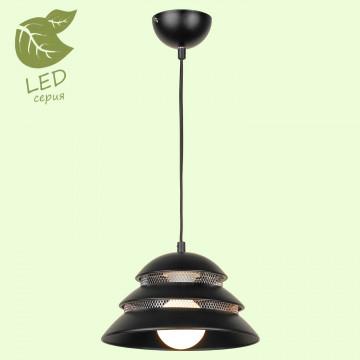 Подвесной светильник Lussole Loft Beijing GRLSP-8131, IP21, 1xE27x10W, черный, металл