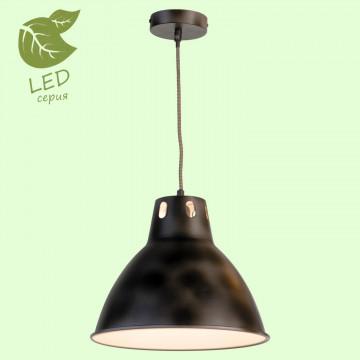 Подвесной светильник Lussole Loft Huntsville GRLSP-9504, IP21, 1xE27x10W, черный, металл
