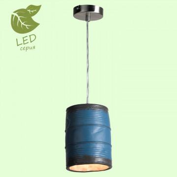 Подвесной светильник Lussole Loft Northport GRLSP-9525, IP21, 1xE27x10W, никель, синий, металл, керамика