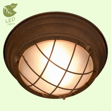 Потолочный светильник Lussole Loft Huntsville GRLSP-8068, IP21, 2xE27x10W, коричневый, металл, металл со стеклом