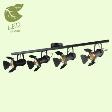 Потолочный светильник с регулировкой направления света Lussole Loft Thornton GRLSP-8076, IP21, 4xE14x6W, черный, металл