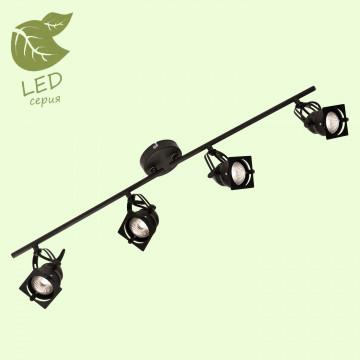 Потолочный светильник с регулировкой направления света Lussole Loft Denver GRLSP-9119, IP21, 4xGU10x5,5W, черный, металл