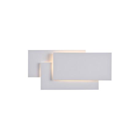 Настенный светодиодный светильник Maytoni Technical Trame C804WL-L12W, LED SMD 2835 12W 3000K 400lm CRI83, белый, металл, стекло