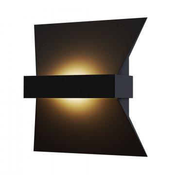 Настенный светодиодный светильник Maytoni Trame C805WL-L7B, LED 7W 3000K 380lm CRI84, черный, металл