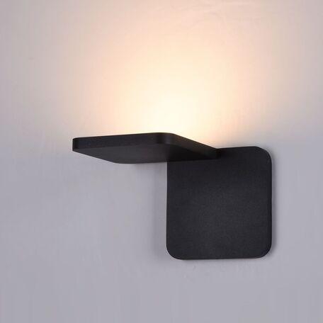 Настенный светодиодный светильник Maytoni Trame C807WL-L7B, LED SMD 2835 7W 3000K 350lm CRI84, черный, металл, стекло