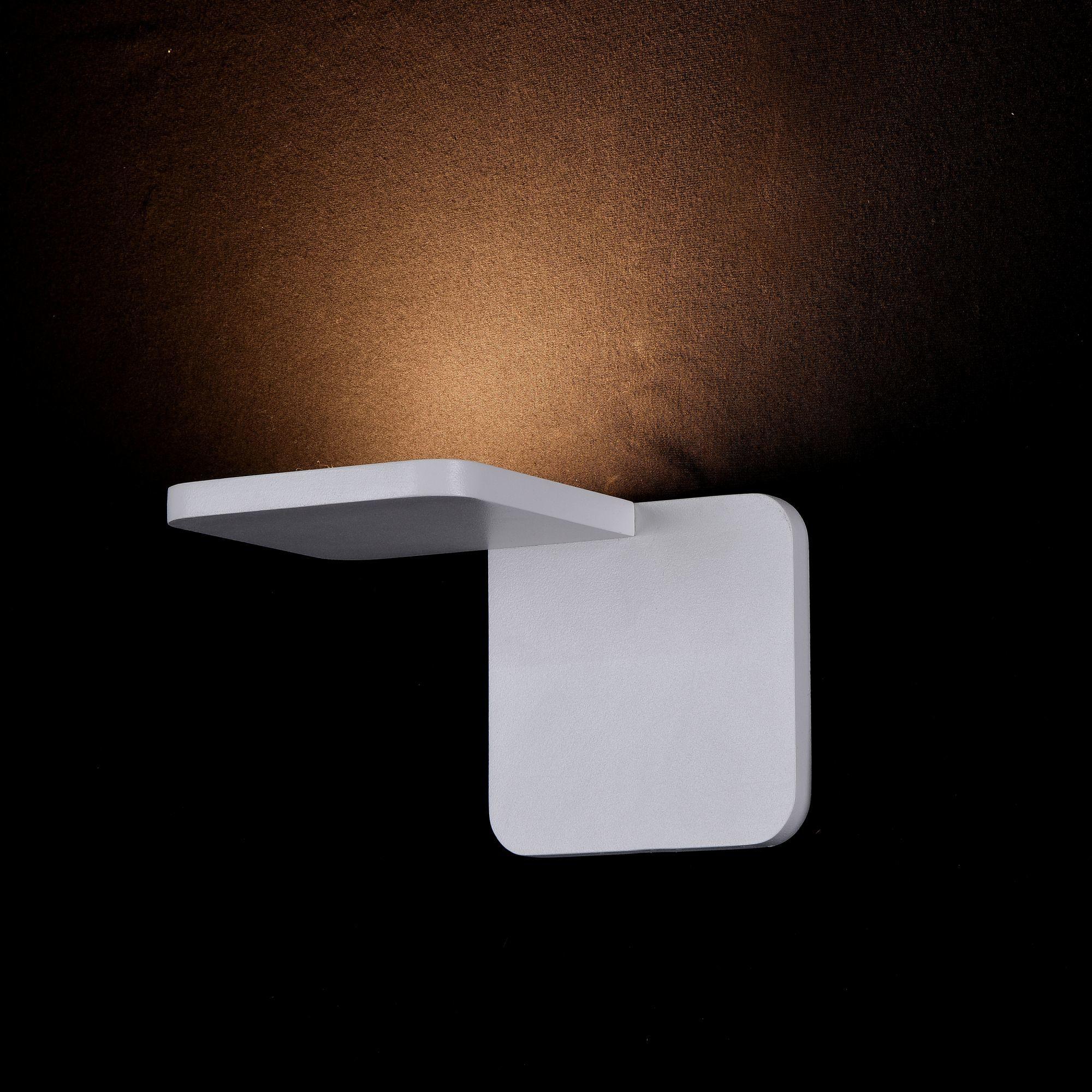 Настенный светодиодный светильник Maytoni Trame C807WL-L7W, LED SMD 2835 7W 3000K 350lm CRI84, белый, металл, стекло - фото 3