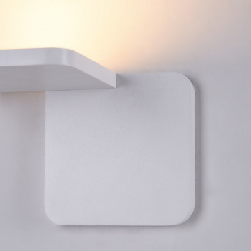 Настенный светодиодный светильник Maytoni Trame C807WL-L7W, LED SMD 2835 7W 3000K 350lm CRI84, белый, металл, стекло - миниатюра 6