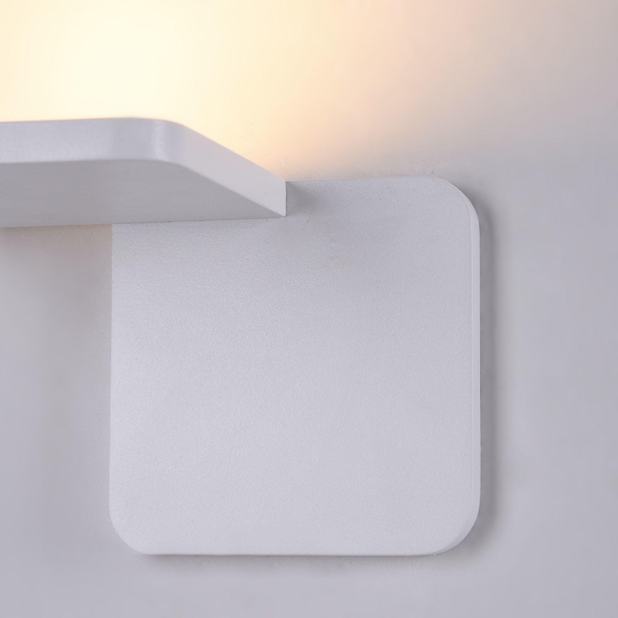 Настенный светодиодный светильник Maytoni Trame C807WL-L7W, LED SMD 2835 7W 3000K 350lm CRI84, белый, металл, стекло - фото 6