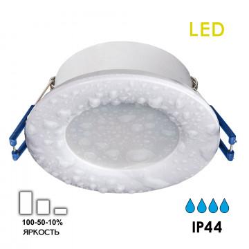 Встраиваемая светодиодная панель Citilux Акви CLD008010, IP44, LED 5W 3500K 400lm, белый, пластик