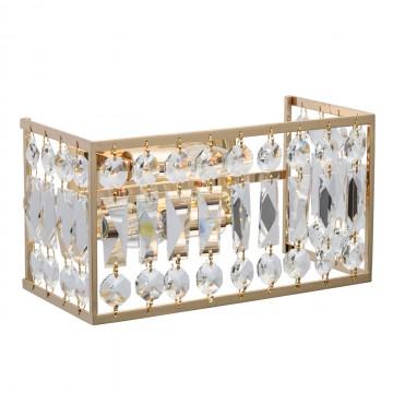 Бра MW-Light Монарх 121021902, 2xE14x40W, золото, прозрачный, хрусталь