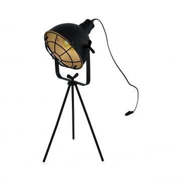 Настольная лампа Eglo Trend & Vintage Industrial Cannington 49673, 1xE27x60W, черный, металл